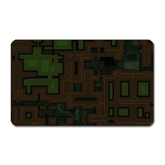 Circuit Board A Completely Seamless Background Design Magnet (rectangular) by Simbadda
