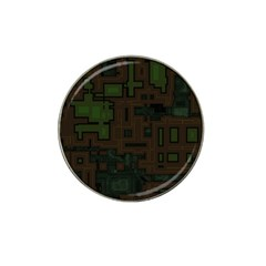 Circuit Board A Completely Seamless Background Design Hat Clip Ball Marker (10 Pack) by Simbadda