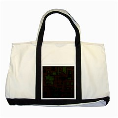 Circuit Board A Completely Seamless Background Design Two Tone Tote Bag by Simbadda