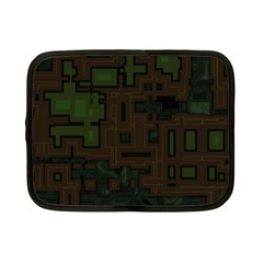 Circuit Board A Completely Seamless Background Design Netbook Case (small)  by Simbadda