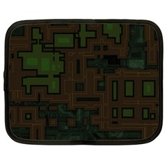 Circuit Board A Completely Seamless Background Design Netbook Case (large) by Simbadda