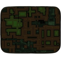 Circuit Board A Completely Seamless Background Design Double Sided Fleece Blanket (mini)