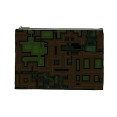 Circuit Board A Completely Seamless Background Design Cosmetic Bag (large)  by Simbadda