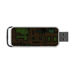 Circuit Board A Completely Seamless Background Design Portable Usb Flash (two Sides)