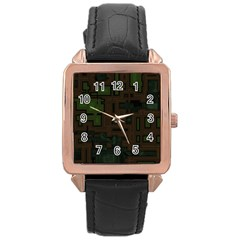 Circuit Board A Completely Seamless Background Design Rose Gold Leather Watch