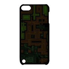 Circuit Board A Completely Seamless Background Design Apple Ipod Touch 5 Hardshell Case With Stand by Simbadda
