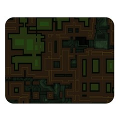 Circuit Board A Completely Seamless Background Design Double Sided Flano Blanket (large)  by Simbadda