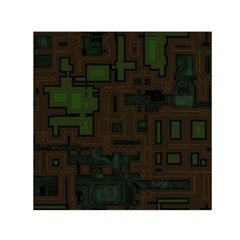 Circuit Board A Completely Seamless Background Design Small Satin Scarf (square) by Simbadda