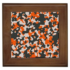 Camouflage Texture Patterns Framed Tiles by Simbadda