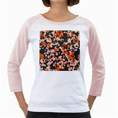 Camouflage Texture Patterns Girly Raglans