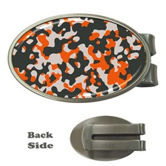 Camouflage Texture Patterns Money Clips (oval)