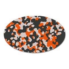 Camouflage Texture Patterns Oval Magnet by Simbadda
