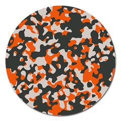 Camouflage Texture Patterns Magnet 5  (round) by Simbadda