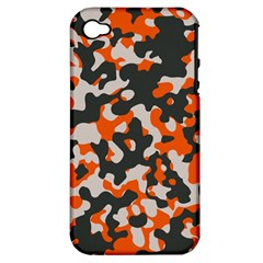 Camouflage Texture Patterns Apple Iphone 4/4s Hardshell Case (pc+silicone) by Simbadda