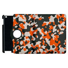 Camouflage Texture Patterns Apple Ipad 2 Flip 360 Case by Simbadda