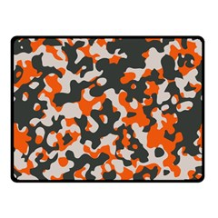 Camouflage Texture Patterns Double Sided Fleece Blanket (small)  by Simbadda