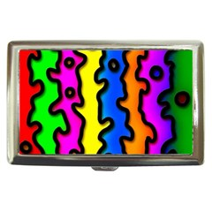 Digitally Created Abstract Squiggle Stripes Cigarette Money Cases by Simbadda