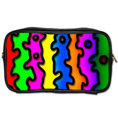 Digitally Created Abstract Squiggle Stripes Toiletries Bags 2 Side by Simbadda