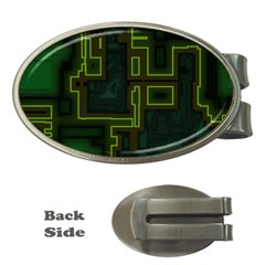 A Completely Seamless Background Design Circuit Board Money Clips (oval)  by Simbadda