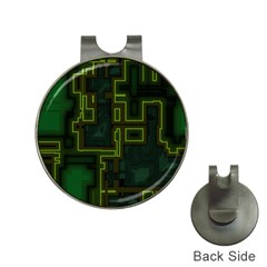 A Completely Seamless Background Design Circuit Board Hat Clips With Golf Markers by Simbadda