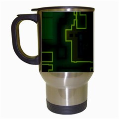 A Completely Seamless Background Design Circuit Board Travel Mugs (white) by Simbadda
