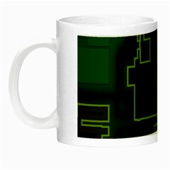 A Completely Seamless Background Design Circuit Board Night Luminous Mugs by Simbadda