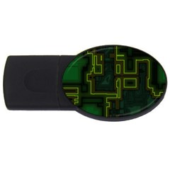 A Completely Seamless Background Design Circuit Board Usb Flash Drive Oval (4 Gb) by Simbadda