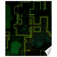 A Completely Seamless Background Design Circuit Board Canvas 8  X 10  by Simbadda