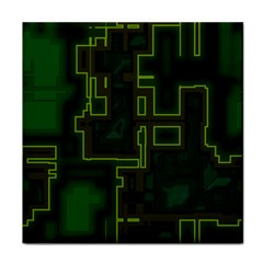 A Completely Seamless Background Design Circuit Board Face Towel by Simbadda