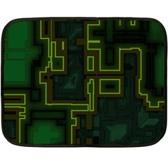 A Completely Seamless Background Design Circuit Board Double Sided Fleece Blanket (mini)  by Simbadda