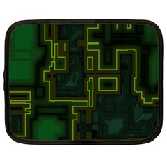 A Completely Seamless Background Design Circuit Board Netbook Case (xxl)  by Simbadda