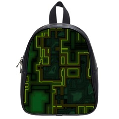 A Completely Seamless Background Design Circuit Board School Bags (small)  by Simbadda
