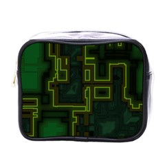 A Completely Seamless Background Design Circuit Board Mini Toiletries Bags by Simbadda