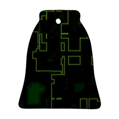 A Completely Seamless Background Design Circuit Board Ornament (bell) by Simbadda