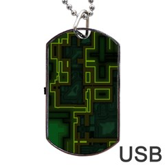 A Completely Seamless Background Design Circuit Board Dog Tag Usb Flash (two Sides) by Simbadda