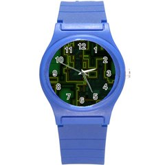 A Completely Seamless Background Design Circuit Board Round Plastic Sport Watch (s)