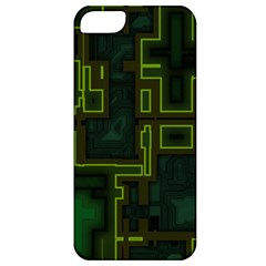 A Completely Seamless Background Design Circuit Board Apple Iphone 5 Classic Hardshell Case by Simbadda
