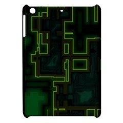 A Completely Seamless Background Design Circuit Board Apple Ipad Mini Hardshell Case by Simbadda