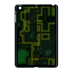 A Completely Seamless Background Design Circuit Board Apple Ipad Mini Case (black) by Simbadda