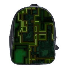 A Completely Seamless Background Design Circuit Board School Bags (xl)