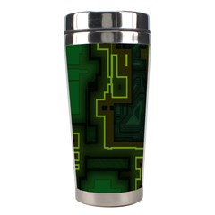 A Completely Seamless Background Design Circuit Board Stainless Steel Travel Tumblers by Simbadda