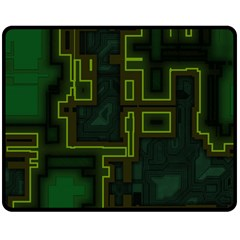 A Completely Seamless Background Design Circuit Board Double Sided Fleece Blanket (medium)