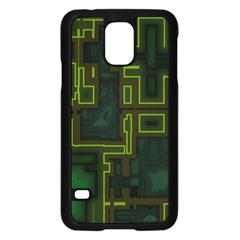 A Completely Seamless Background Design Circuit Board Samsung Galaxy S5 Case (black) by Simbadda