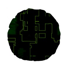 A Completely Seamless Background Design Circuit Board Standard 15  Premium Flano Round Cushions by Simbadda