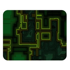 A Completely Seamless Background Design Circuit Board Double Sided Flano Blanket (large)  by Simbadda