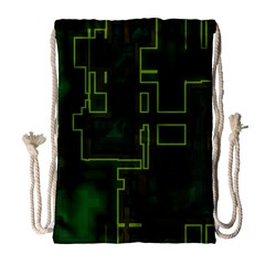 A Completely Seamless Background Design Circuit Board Drawstring Bag (large)