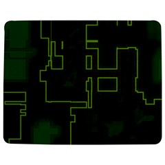 A Completely Seamless Background Design Circuit Board Jigsaw Puzzle Photo Stand (rectangular) by Simbadda