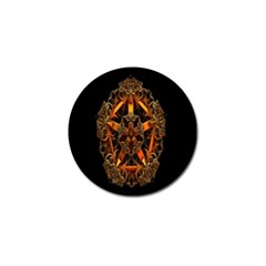 3d Fractal Jewel Gold Images Golf Ball Marker (4 Pack)