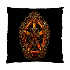 3d Fractal Jewel Gold Images Standard Cushion Case (two Sides) by Simbadda