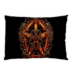 3d Fractal Jewel Gold Images Pillow Case by Simbadda